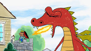 Cartoon Image - Realtor fighting the dragon